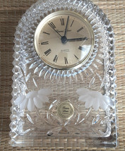 Princess House 24% Lead Crystal Mantel Clock Made in Germany CLOCK Does Not Work - $19.80
