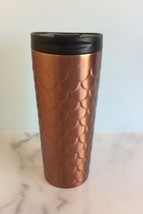 2017 Starbucks Mermaid Scales Stainless Tumbler Coffee Cup Copper Rose G... - $24.50