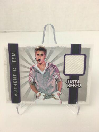 2012 Panini Justin Bieber Relic Event Worn Material Costume White Glove