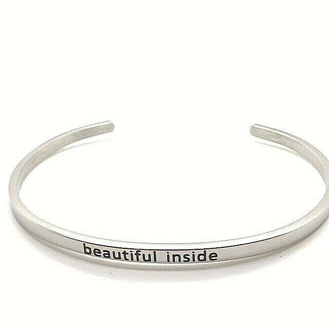 Primary image for BEAUTIFUL INSIDE Statement Bangle Solid Stainless Steel NEW