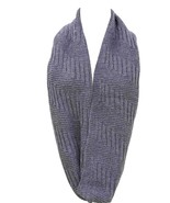 Women's Winter Knitted Short Infinity Scarf - Blue - $8.72