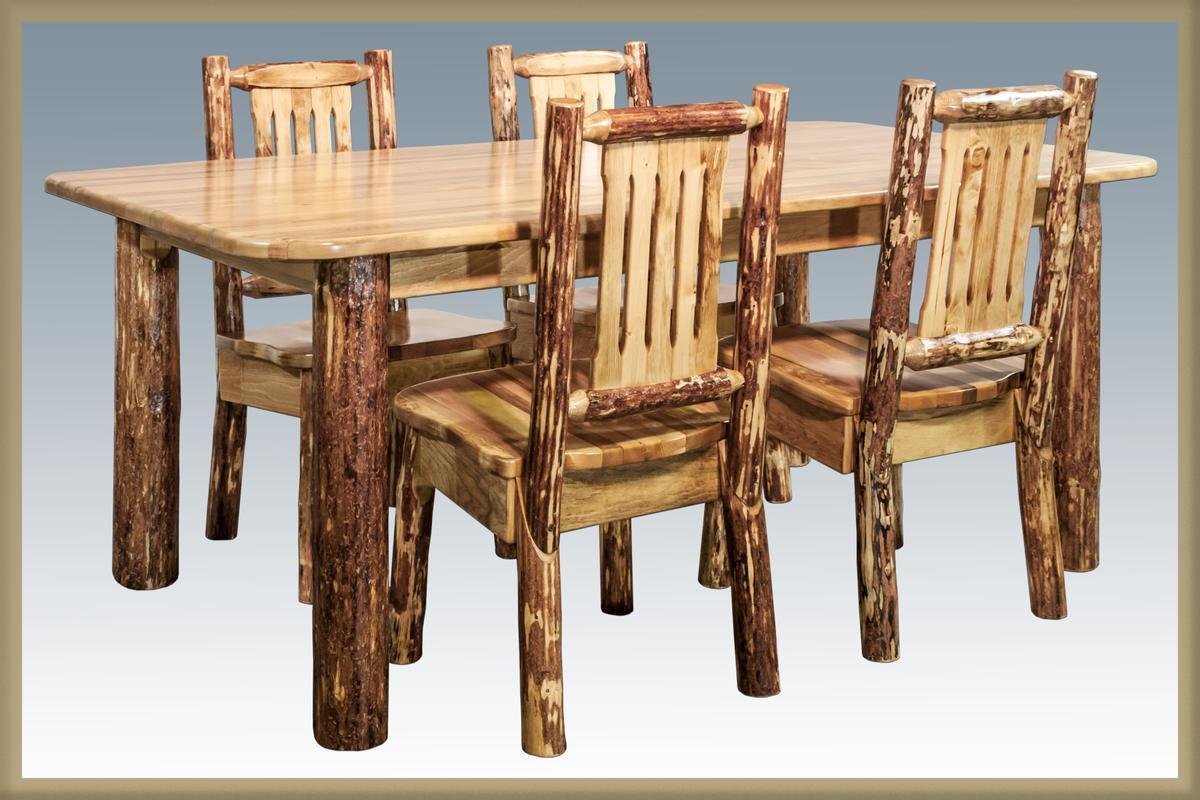 Rustic Log Dining Room Set Table Chairs And 11 Similar Items S L1600