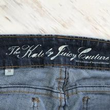 """Juicy Couture """"The Kate"""" Skinny Straight Leg Stretch 34 x 30 Size 8 image 6"""