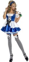 Women's Alice in Wonderland Costume, Dress and Hat, Troops image 5