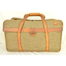 "Hartmann Luggage 21"" Tweed & Leather Vintage Carry on image 1"