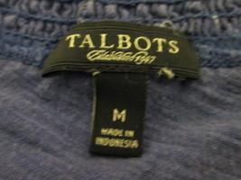 Women's purple short sleeve top w/ ruffled neckline Size M by Talbots MKS072 - $7.45