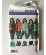 Simplicity 4509  Sewing Pattern Womens Petite Lined Jacket Sizes 18W-24W... - $6.92