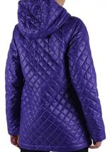 ADIDAS ORIGINALS WOMEN'S 'FEM PADDED PARKA' PURPLE COAT JACKET QUILTED RRP £150 image 4