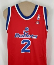 Vtg Washington Bullets Champion Jersey Chris Webber #4 Red Youth L14-16 ... - $31.69