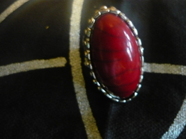 Haunted Male Vampire Red Stoned Ring Size 6.5 Seeks One True Keeper - $79.99