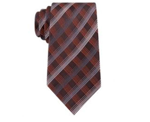 Primary image for Geoffrey Beene Office Chic Plaid 100% Silk Neck Tie Necktie. MSRP $55
