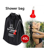 Camping & Hiking shower bag Portable Shower Heating Pipe Bag Solar Water... - $15.00