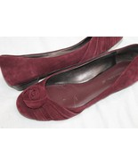 Banana Republic Wine Suede Leather Ballet Flats Shoes Size 7.5 - $18.81