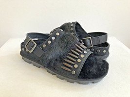 UGG BIKER CHIC BLACK MOCASSIN SLIP ON SANDAL US 8.5 / EU 39.5 / UK 7 - €91,86 EUR