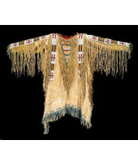 Mens New Native American Buckskin Beige Buffalo Hide Bead Powwow War Shi... - $269.10+