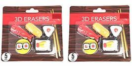 Sushi 3D Erasers Figural Eraser Set of 10 - $7.99