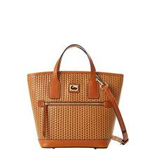 Dooney & Bourke Camden Woven Leather Small Convertible Tote Bag Camel