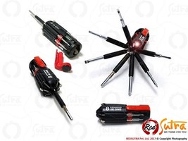 8 in 1 Multi Portable Screwdriver Hand Tools Set LED Flashlight Torch Lamp - $178,19 MXN