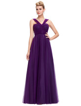 Purple Elegant Formal Evening Gown Bridesmaid Dress at Bling Brides Bouq... - $129.99