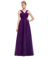 Purple Elegant Formal Evening Gown Bridesmaid Dress at Bling Brides Bouq... - $129.99