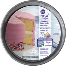 "New Wilton Treats Made Simple 2-Piece 6"" Round Cake Steel Pan Set New - $405,77 MXN"