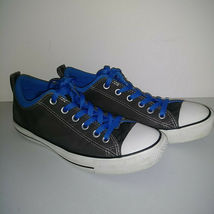 CONVERSE ALL STAR Gray Blue White Low Top Shoes Thick Tongue Mens 7 Womens 9 image 5