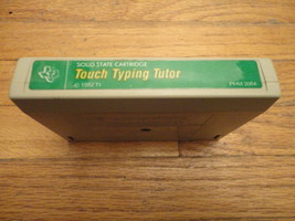TI 99/4A Touch Typing Tutor green label tested educational game cartridge  - $3.99
