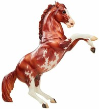 Breyer Traditional 70th Anniversary Model Fighting pinto Stallion in han... - $48.37