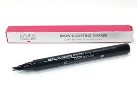 Laura Geller Long-Wearing Brow Sculpting Marker *Dark Brown* Tri-Tip New in Box - $28.98