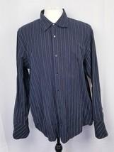 Calvin Klein Men's sz L Black Checks Cotton Long Sleeve Button Up Shirt - $14.97