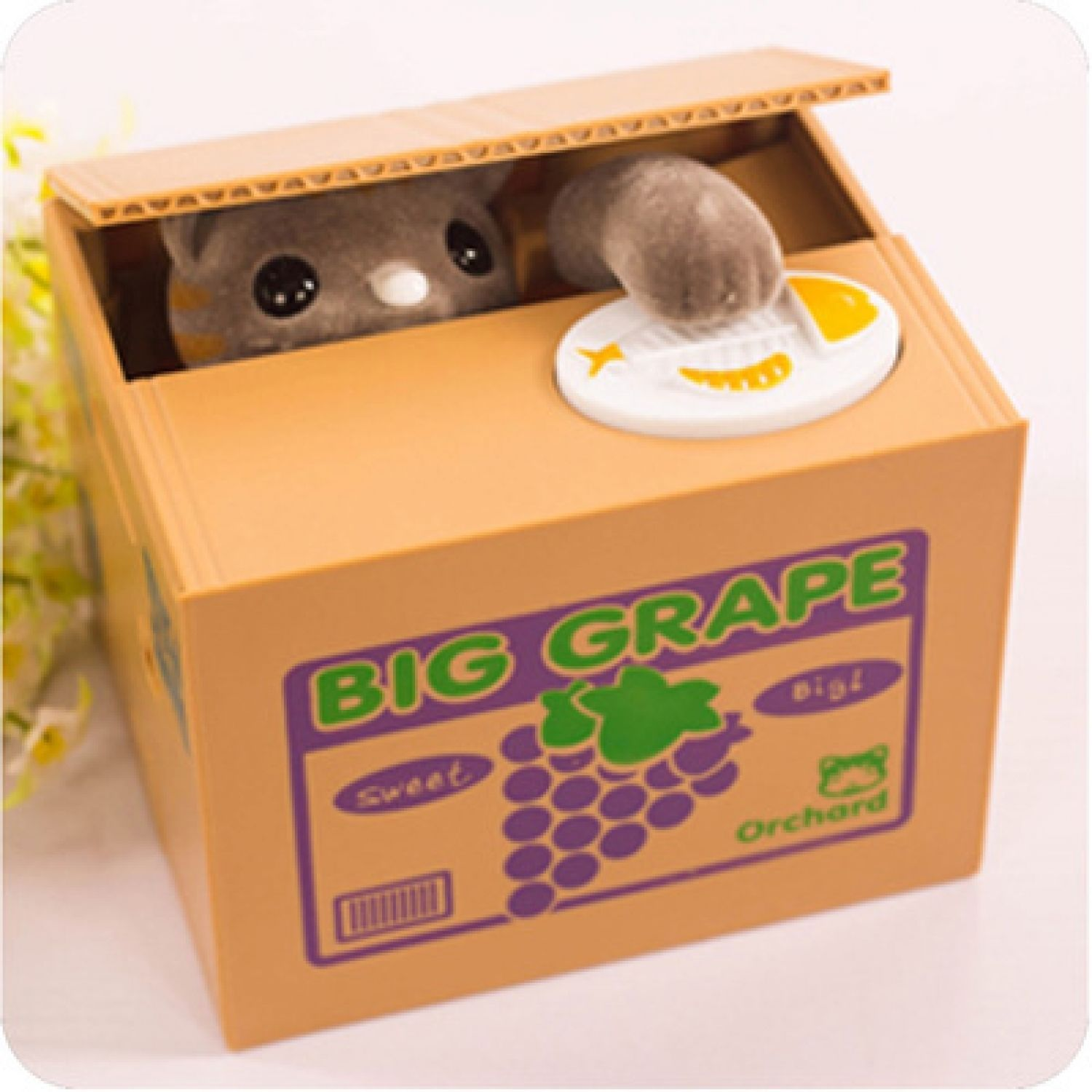Toys For Adults Electronic Gadgets : Piggy bank automatic gadget geek waste time cartoon cat