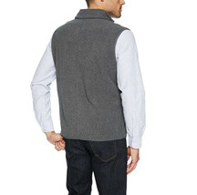 Amazon Essentials Men's Lightweight Full-Zip Charcoal Polar Fleece Vest 2XL image 2