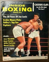 INSIDE BOXING magazine Winter 1964 Sonny Liston vs Cassius Clay cover - $9.89