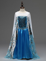 Shiny Frozen Pricess Flower Girl Dress Cosplay Sequins Long Sleeve  Hall... - $19.66