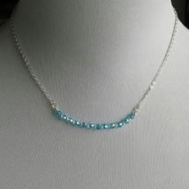 Swarovski Crystal Curved bar necklace/crystal necklace/curbed bar neckla... - £14.42 GBP