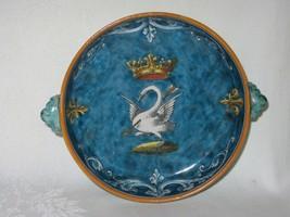 French Vtg Pierced Swan Bowl Ulysse Blois & Bruneau Balon Victorian 2 Ha... - $168.29