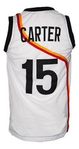 Vince Carter #15 Roswell Rayguns Basketball Jersey New Sewn White Any Size image 2