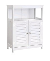 Wooden Bathroom Storage Floor Cabinet Free Standing Organizer Cupboard W... - £92.84 GBP