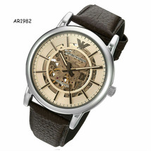 Emporio Armani Automatic Luigi Men's AR1982 Dress Brown Leather Watch - $215.17