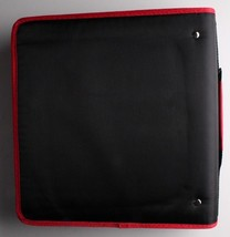 "NEW Five Star Zipper Binder + Tech Pocket, 2"", Red Black, 12-3/4"" x 12"" NWT image 2"