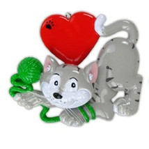 Cat Lover Personalized Christmas Ornament - $14.99