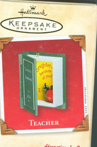 Hallmark Keepsake Christmas Ornament 2002 Teacher New In Box - $4.79
