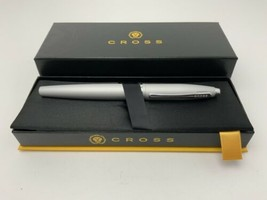 Cross Pen Calais Rollerball Satin Chrome New In The Box Gift Quality FAST SHIP - $28.46