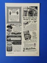 """Vintage 1954 Black & Decker 3/8"""" Utility Drill - Half Page Original Ad - $6.64"""