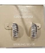 Giani Bernini Textured Half-Hoop Earrings in Sterling Silver NWT - $37.20