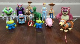 Toy Story lot of Action figures Buzz Woody Zurg Slinky Hamm Bo Peep Bullseye ++ - $96.74