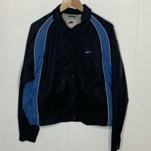 Boys Size Large 12 14 Vintage 90s White Tag Nike Windbreaker Jacket Blue... - $26.70