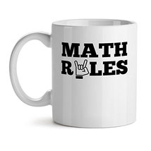 Math Rules - Mad Over Mugs - Inspirational Unique Popular Office Tea Coffee Mug  - $17.59