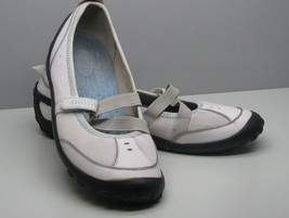 Clarks Privo SHOES White Leather & Fabric Woman's 8 M FLATS - $15.83