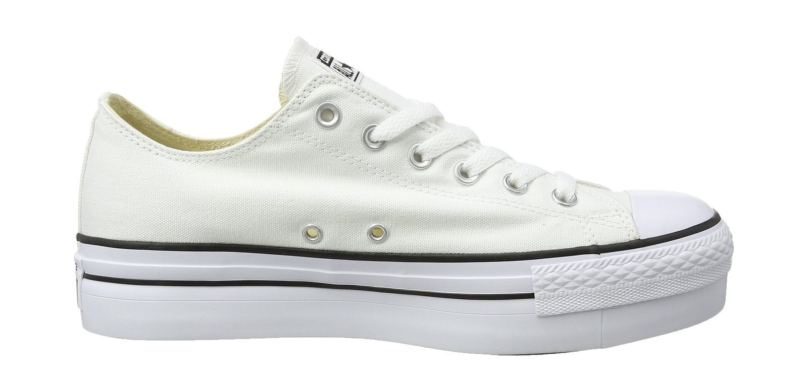 Womens 540265c Gymnastics Shoes, Off White (Bianco), 10 UK Converse